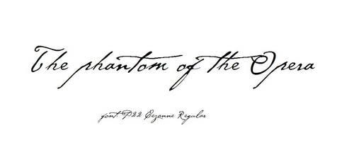 phantom of the opera font by Niiara00
