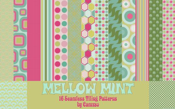 Mellow Mint Photoshop Patterns