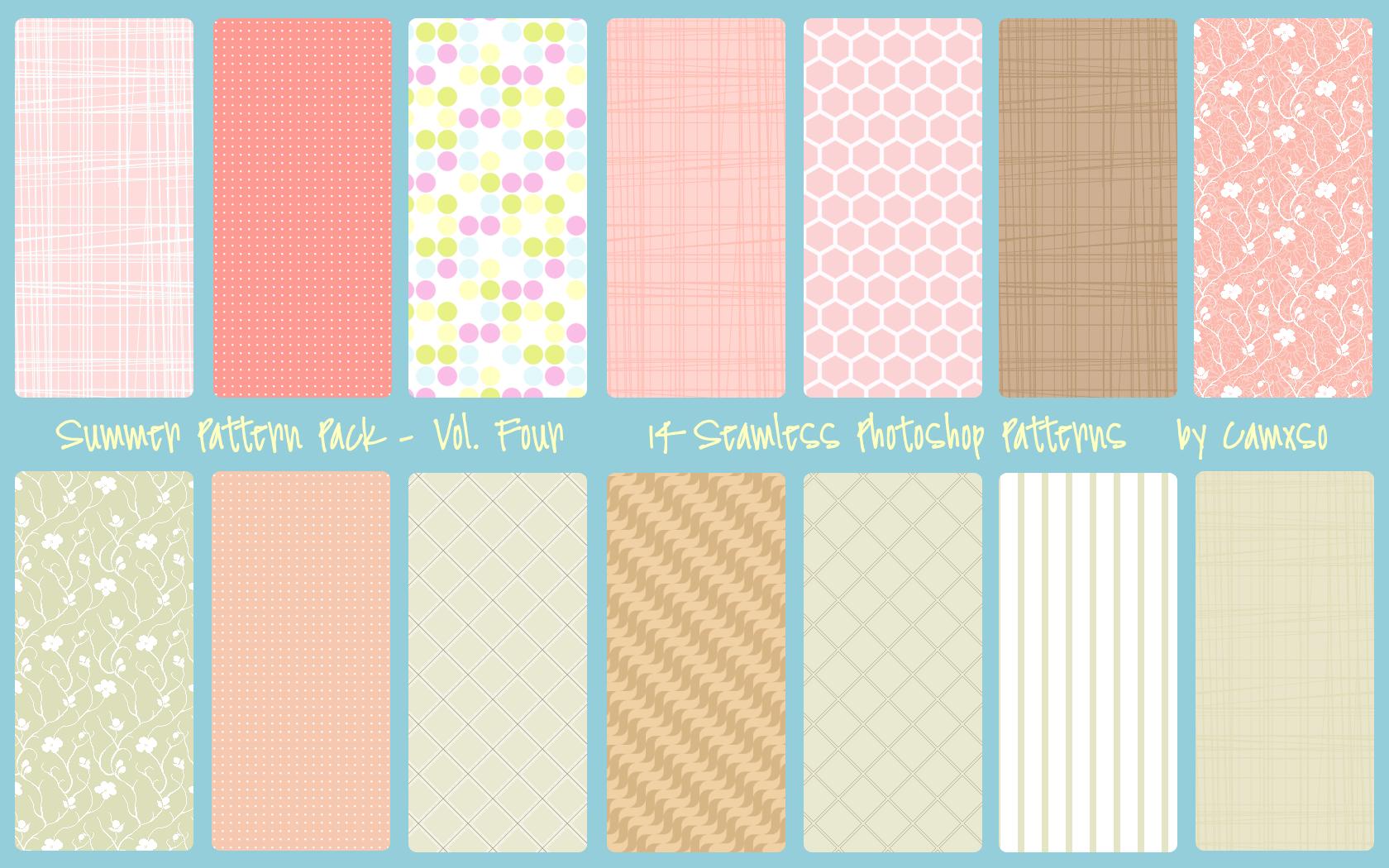 Summer Pattern Pack Vol  4 by Camxso on DeviantArt