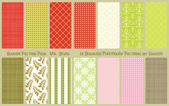Summer Pattern Pack Vol. 7