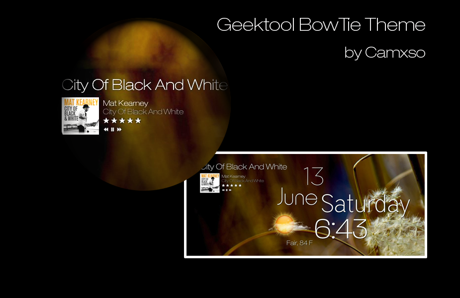 Geektool BowTie Theme by Camxso