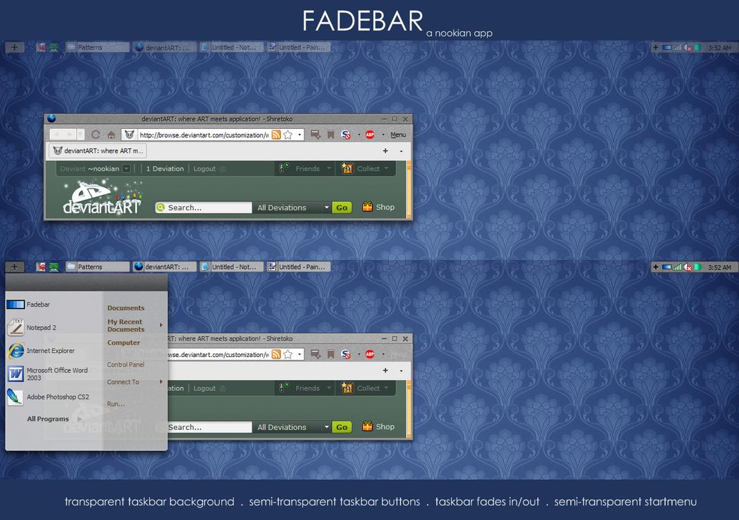 App: Fadebar by nookian