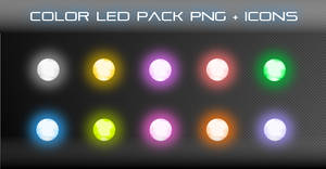 Color LED Pack PNG + ICONS