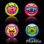 4 hungry Monsters by Mirella-Gabriele