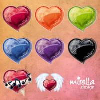 Valentine Icons by Mirella-Gabriele