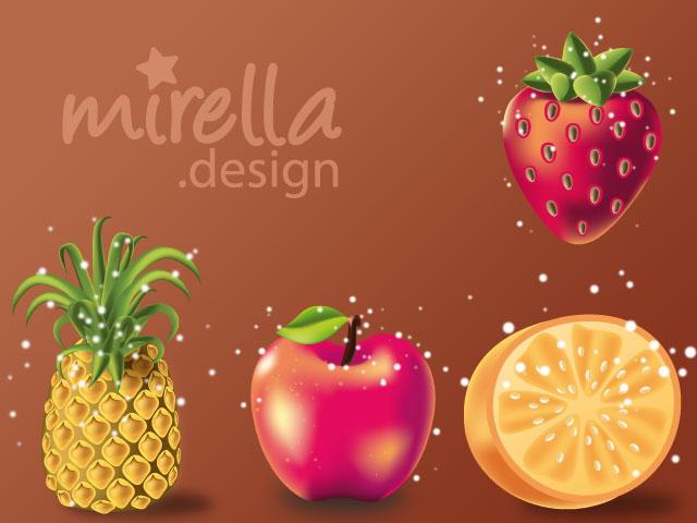 Fruits by Mirella-Gabriele
