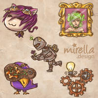 Steampunk Icons by Mirella-Gabriele