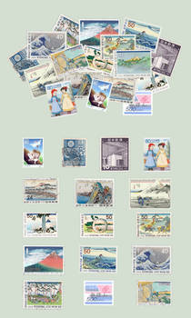 sushibird.com - Japanese stamps