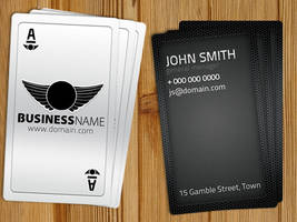 Playing Card Business Card Free Template by Hotpindesigns