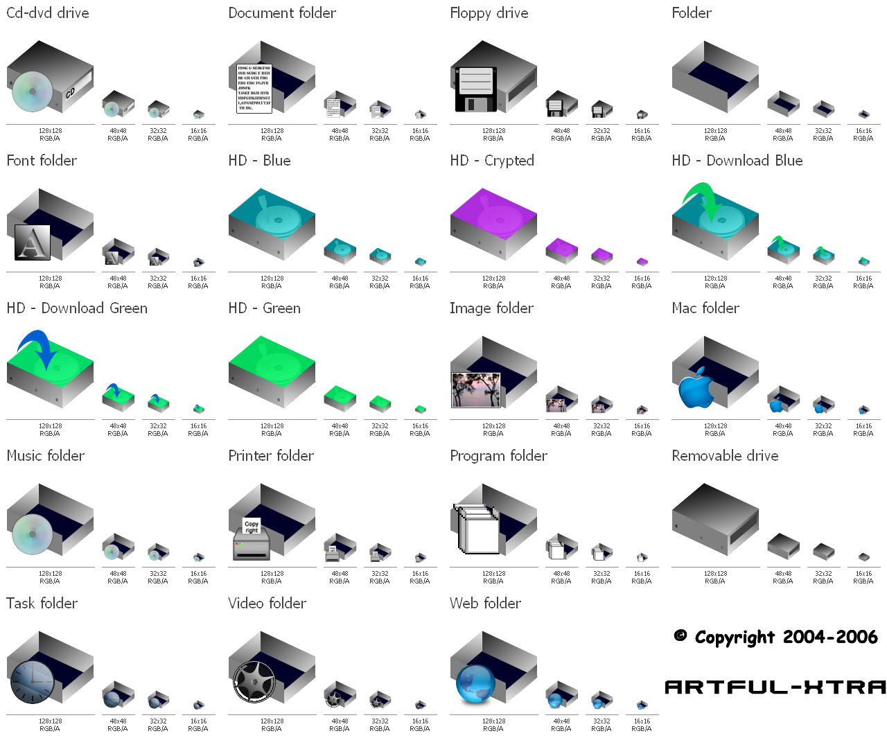 Isometric Iconset for Mac by artful-xtra