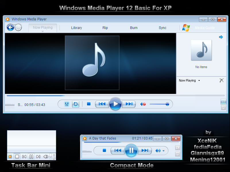 Windows Media Player 12 For Xp By Xcenik On Deviantart