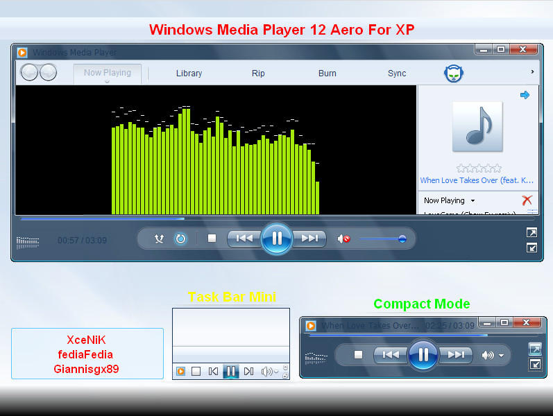 Microsoft Media Player Visualizations