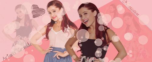 Ariana Grande PSD header by dorina-site