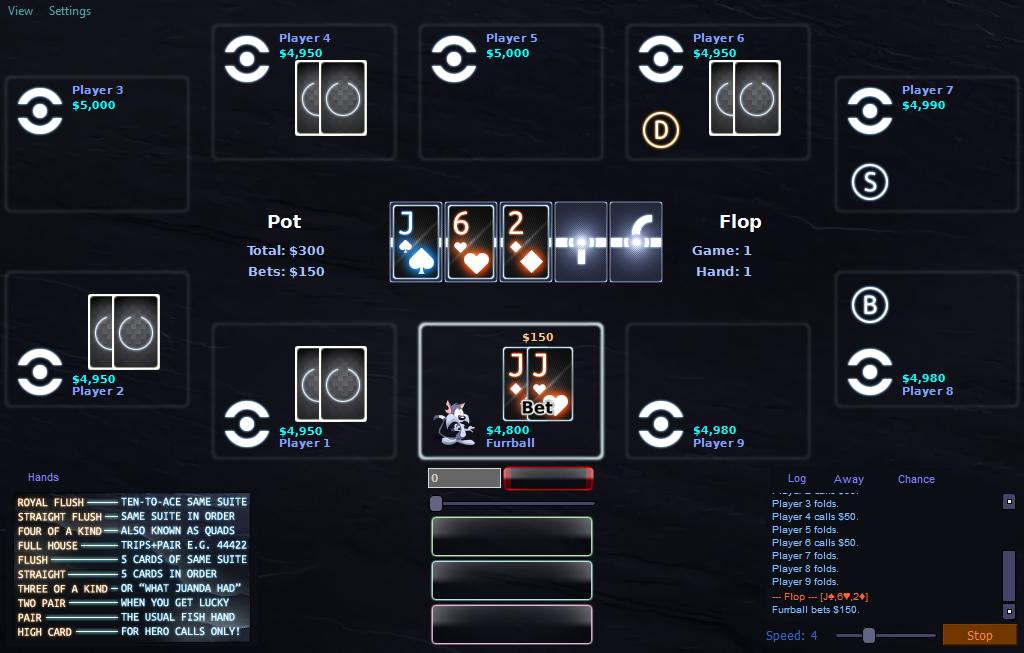 PokerTH 'Tron: Legacy' Table Style