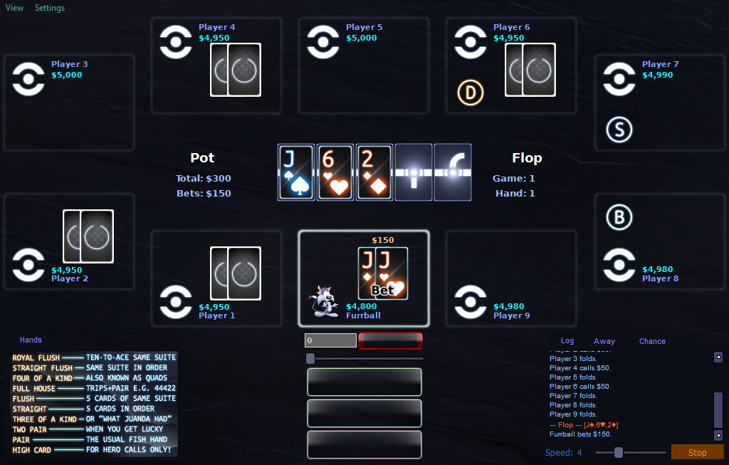 PokerTH 'Tron: Legacy' Table Style by Furrball75