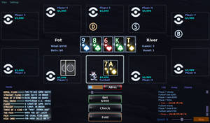 PokerTH 'Tron: Legacy' Table With 4-Color Deck