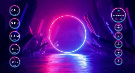 [Rainmeter] Neon Rings - Bravo Lemur