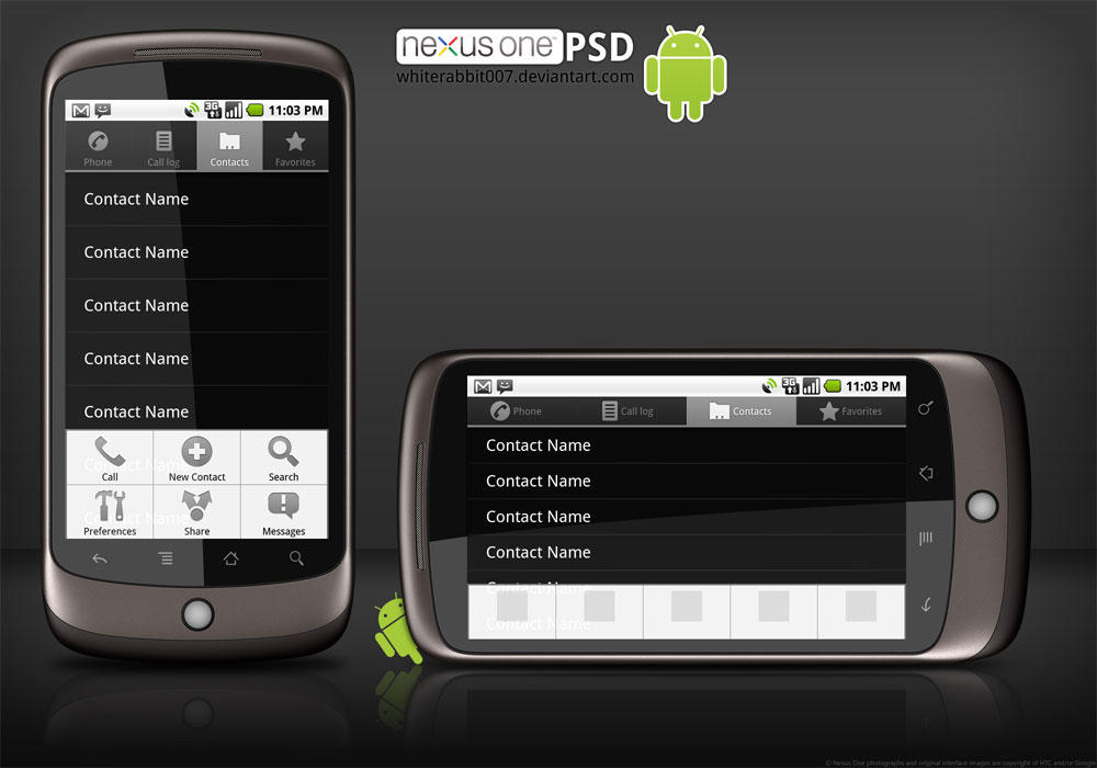 Google Nexus One template PSD by whiterabbit007