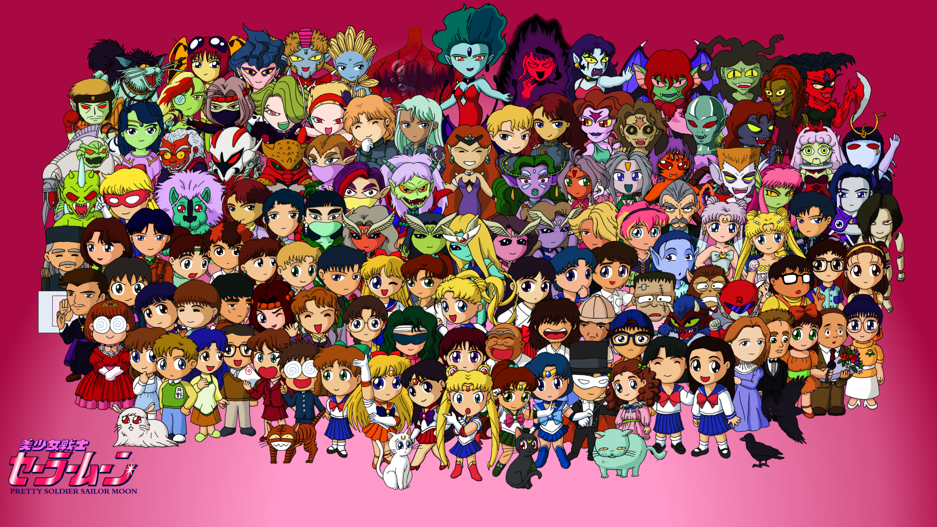 Sailor Moon Season 1 Wallpaper by TinySailorMoon