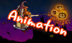 Halloween Hermione Animation by Niranis