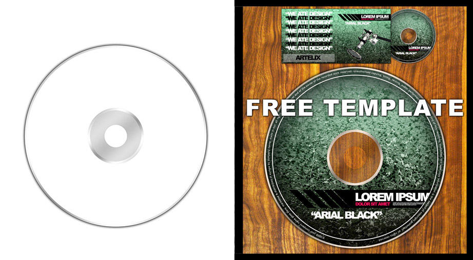 cd sleeve template photoshop - 20 cases e mockups para cd e dvd clube do design