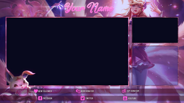 [FREE] Star Guardian Ahri - Twitch Overlay