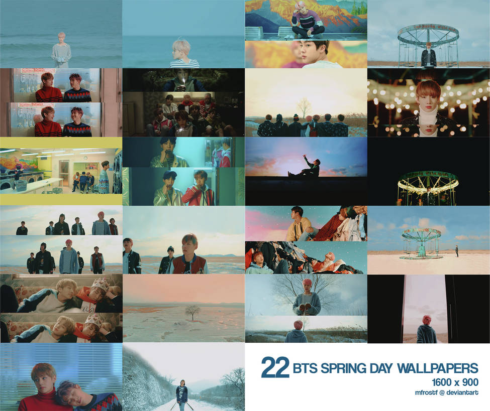 bts   spring day desktop wallpapers by mfrostf dazkxlu pre