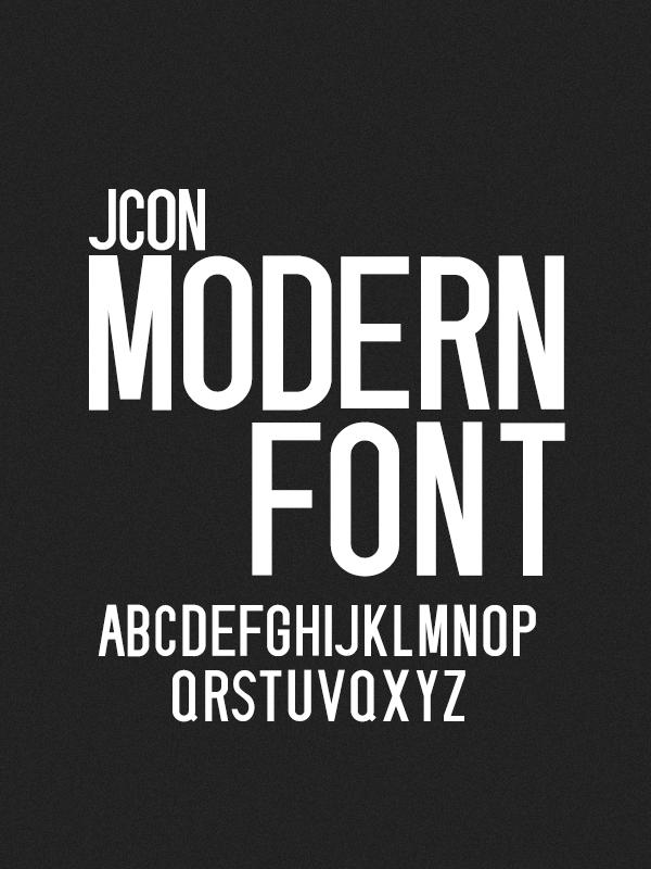 Jcon Modern Font For Titles By Jokubas00 On Deviantart