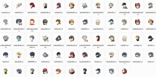 Persona 3 and 4 Windows Icons