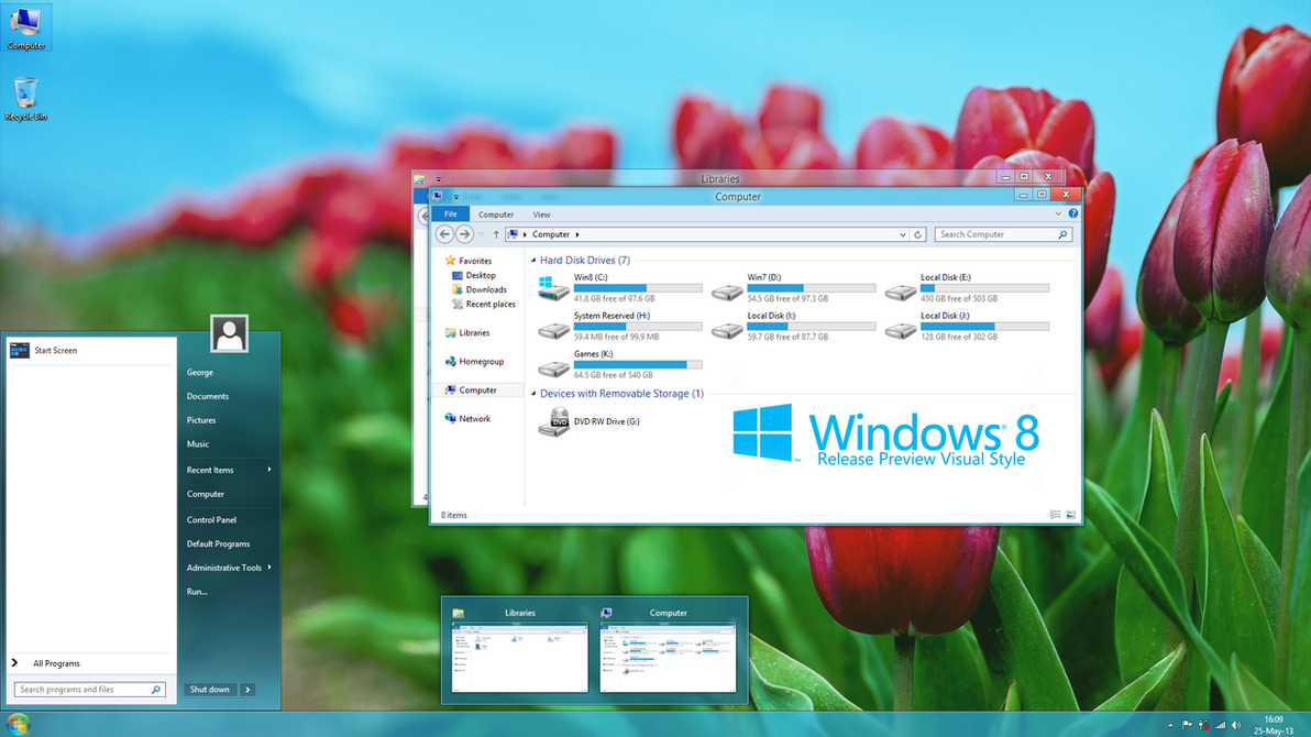 Release Preview Theme for Windows 8 by froggz19