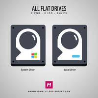 All Flat Drives Icons