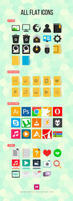 All Flat Icons (The complete set)