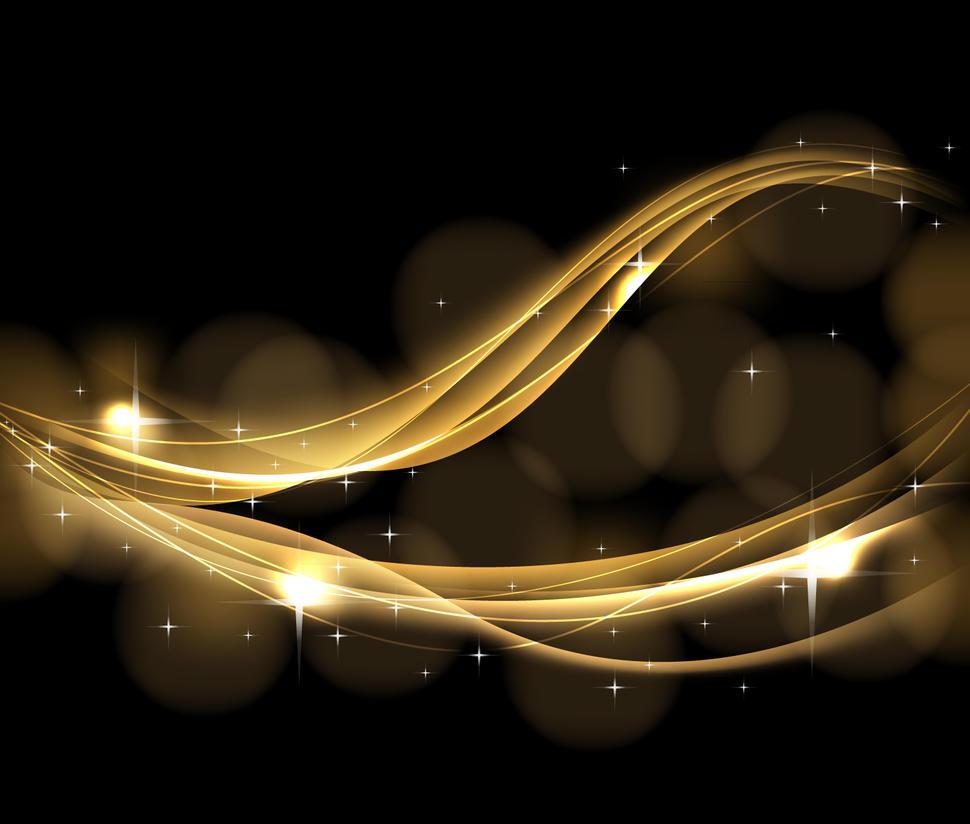 gold waves free vector by azhaan on deviantart