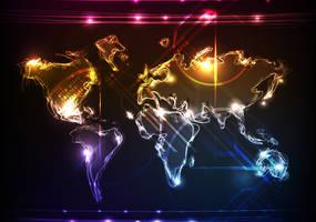 World Map Vector by azhaan