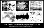 Free Vector Halftone Background / Border Set 03