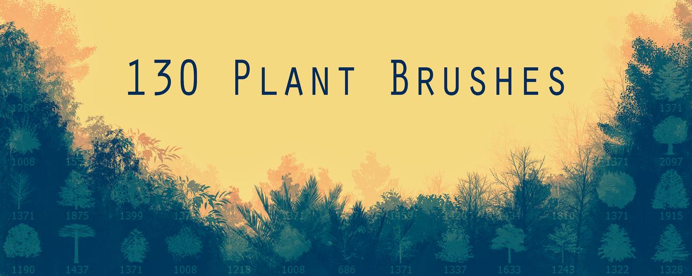 130 Plant Brushes by Bonvanello