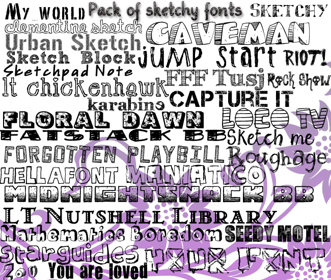 + Pack Sketchy Fonts -ASK FOR THE PASS- +