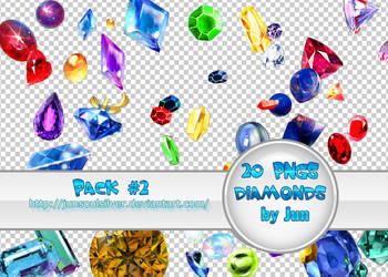 Pack 20 Pngs Diamonds by junsoulsilver by JunSoulsilver