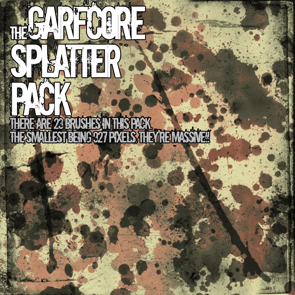 Massive Splatter Pack. by Garfcore