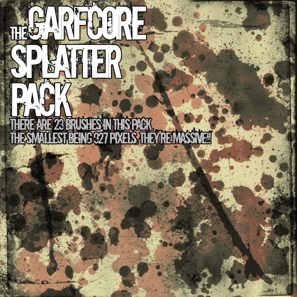 Massive Splatter Pack. by Garfcore