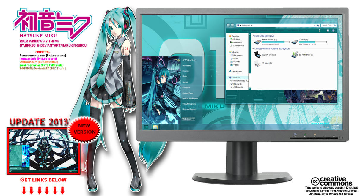 [ 2012 theme ] Hatsune Miku 2.0.1.2 by HKK98