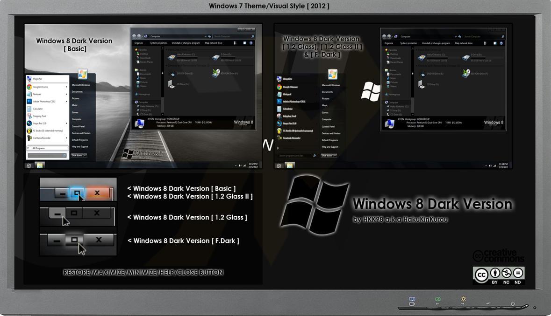 2012 theme windows 8 dark version by hkk98 on deviantart for Window 07 themes