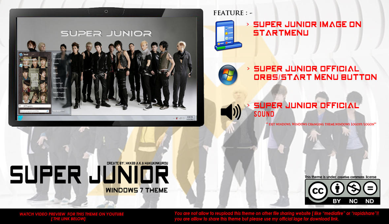 [ 2012 theme ] Super Junior Windows 7 Theme by HKK98