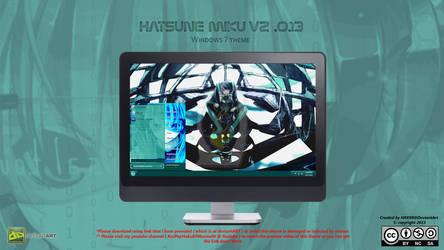 [2013 Theme ] Hatsune Miku V2.0.13 for Windows 7 by HKK98