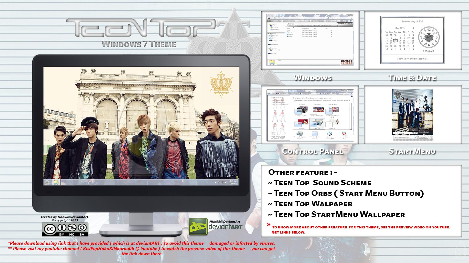 2013 Theme Teen Top Kpop For Windows 7 By Hkk98 On