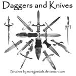 Daggers and Knives by martyJswizzle