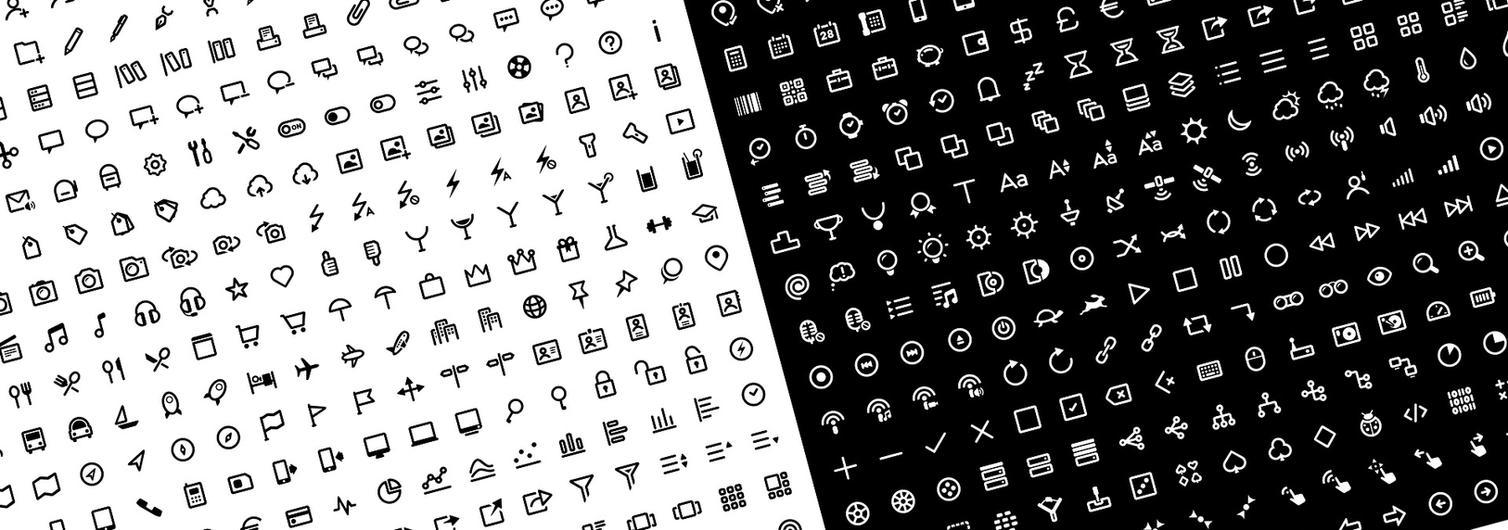 Clear Icons - 500 Icons by k-raki