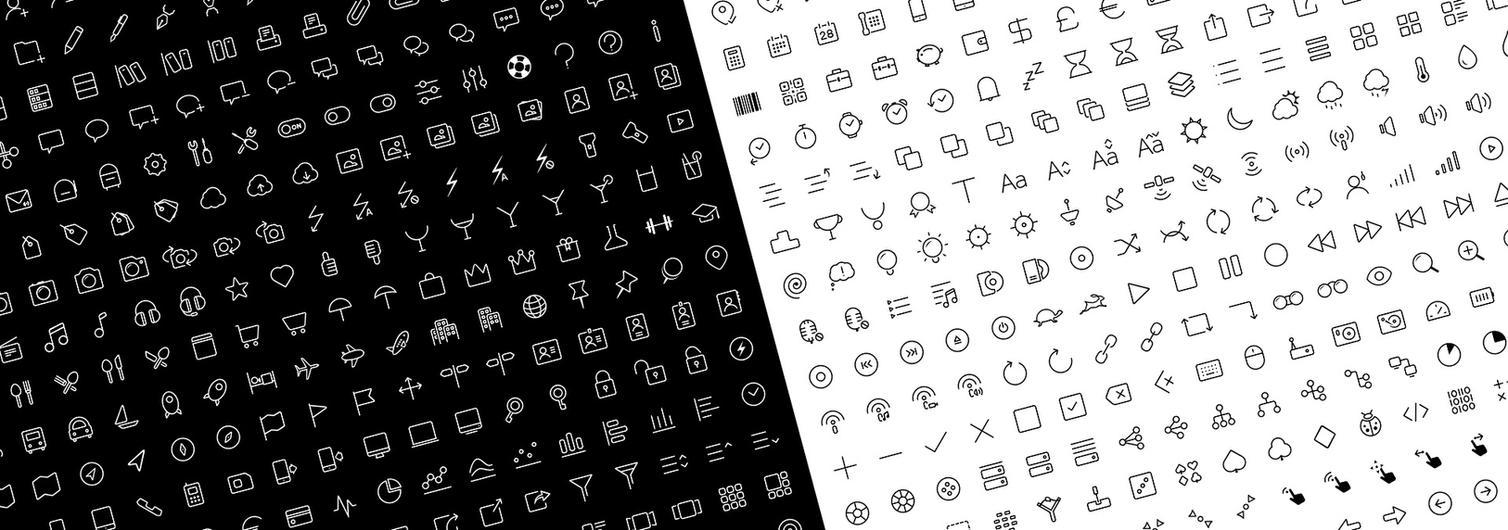 Clear Icons - Thin by k-raki