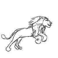 Lion run (animated) by Maltakreuz