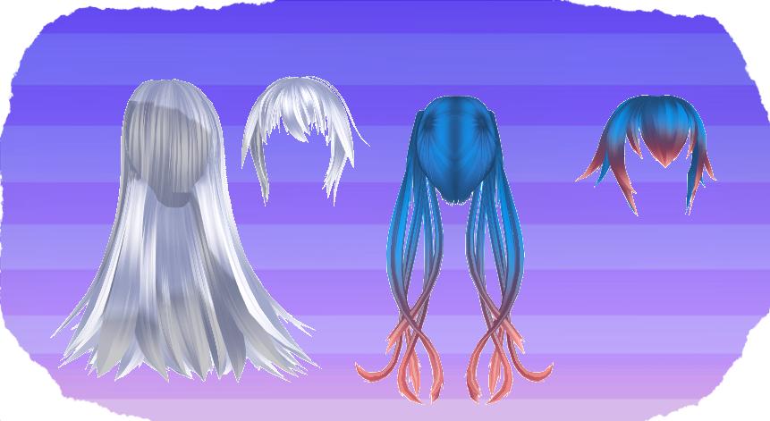 MMD HK Hair Set by MMD3DCGParts